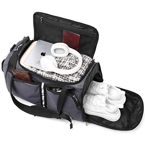 Wind Took 40L Sporttasche Fitnesstasche Reisetasche Rucksack-Funktion Gym Bag Duffel Bag WeekenderTrainingstasche Travel Bag mit Schuhfach Tasche Herren Damen für Sport Fitness Gym Urlaub