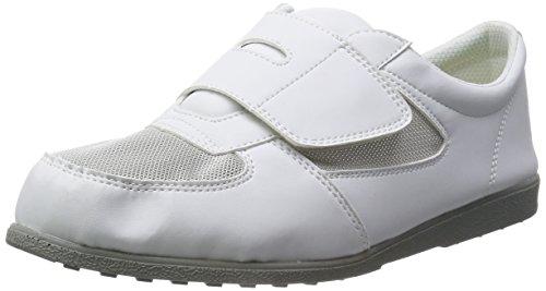 [シモン] 静電気帯電防止機能付 メッシュ靴 CA-61 メンズ 白 28.0cm