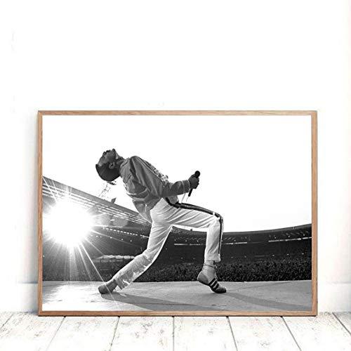Danjiao Vintage Fotografie Poster Und Drucke Rock Music Star Leinwand Malerei Wandkunst Bilder Für Wohnzimmer Dekor Wohnzimmer 60x90cm