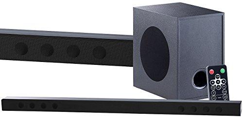 auvisio Soundbox: Soundbar mit Bluetooth, 3D-Sound-Effekt und externem Subwoofer, 180 W (Soundanlage)