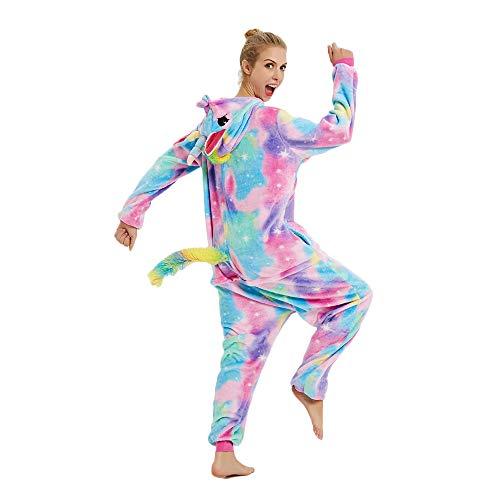 Kenmont Animali Pigiama Adulto Animato Cosplay Costume Camicie da Notte Carnevale Halloween Natale (Size M for 158-168CM, Nouveau Étoile Unicorn)