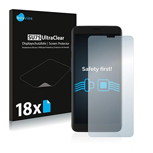 Savvies 18x Schutzfolie kompatibel mit Archos Core 55S Bildschirmschutz-Folie Ultra-transparent