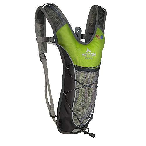 TETON Sports TrailRunner 2.0 - Mochila de hidratación de 2 litros con vejiga de Agua; para mochileros, Senderismo, Correr, Ciclismo y Escalada (Verde Brillante)