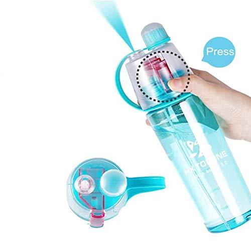 GXD Creativa Spray Taza de Agua de Deportes al Aire Libre Botella de plástico Regalo de la Taza Personalizada multifunción Informal Copa de Deportes Femenino Niños portátil anticaída Caldera
