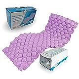 Mobiclinic, Mobi 1, Colchón antiescaras de aire alternante, con motor compresor, PVC médico ignífugo, 200 x 90 x 7, 130 celdas, color Lila