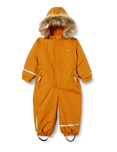 MINYMO Unisex-Child Snow Suit Tusser solid Snowsuit, Pumpkin Spice, 98
