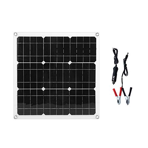 Bubbry Ultradunne oplader op zonne-energie, draagbaar monokristallijn 30 W zonnepaneel