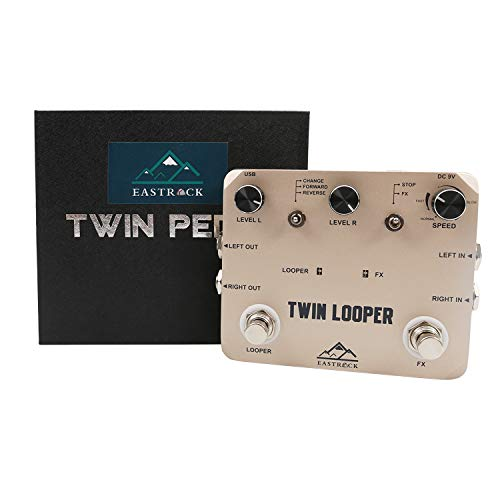 EastRock Effektpedal Looper Bass Guitar Effect Pedal Stereo with Tap Tempo (Deluxe)