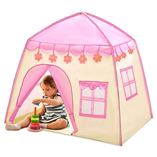 Nice2you Play Tents with LED Light for Girls Princess Castle Kids Children Playhouse for Indoor Outdoor with Carry Bag Portable Playhouse Boys & Girls Birthday
