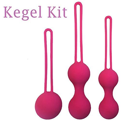 YouQDOLL Silikon-Komplettset für Frauen Reparatur Vaginal Hanteln Gymnastikhanteln Intim-Komplettset 3 Stück warm rot 3 Stück - Geschenkbox