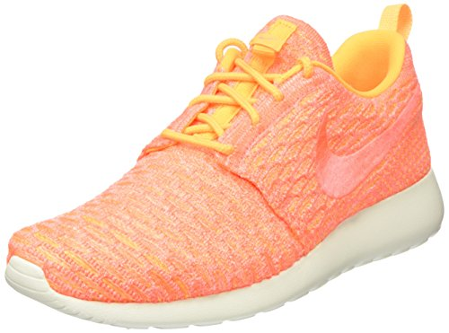 Nike Roshe One Flyknit, Women's Sneakers, Orange (Laser Orange/Bright Mango-sail), 5 UK (38.5 EU)