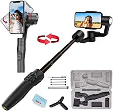 3-Axis Gimbal Stabilizer for iPhone 11 Xs Max XR X 8 7Plus 6 Smartphone Vlog Youtuber Samsung Galaxy Note10/10+ S10+ S9 POV Hitchcock Panorama Face Object Tracking Timelapse FeiyuTech Vimble 2S