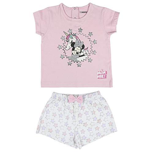 Cerdá Pijama de Minnie Mouse-Camiseta + Pantalon de Algodó
