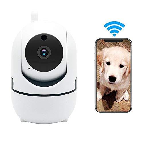 LEEFISH Draadloze Huisdier Camera, 720P Hd Hd Ip Camera, Wifi Kat Surveilance, Monitor voor Baby/Hond/Cat met Bewegingsdetectie Infrarood Nachtzicht Ptz Rotatie Monitoring Tweewegs Audio