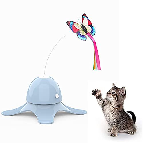 'N/A' Giocattoli per Gatti - Funny Automatic Electric Rotating Butterfly & Ball Esercizio Gattino Giocattolo, Giocattoli di Teaser Cat Interattivo per Gatto Indoor