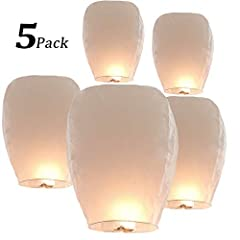 【Ideal for Any Occassion】Wish Paper Lanterns are suitable for any occasion. Ideal for weddings, New Years Eve, graduations, anniversaries and more! 【Easy to Use】The Chinese wish lanterns are equipped with a separate wax block, which is made of paraff...