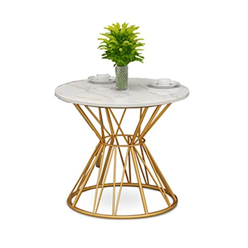 Axdwfd Table d'appoint Guéridon en marbre, Salon Canapé Table, Chambre Table de chevet - 60 cm * 60 cm * 60 cm