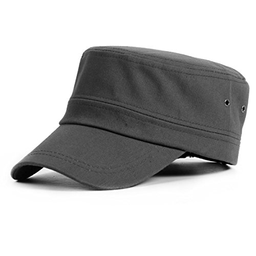 ROMEYA Primavera E Autunno Cotone All'aperto Giovani Uomini Cappello Piatto Cappello del Sole Berretto da Baseball,09-55-61cm