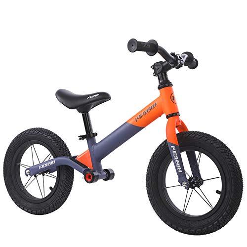 JHHXW Bicicletas de equilibrio para niños, bicicleta deslizante sin pedales, ruedas de goma inflables, bicicleta para niños pequeños con asiento ajustable, 1-6 años de edad, niñas, niñas, niñas, jugue