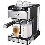 Aicook Kaffeemaschine, Espressomaschine mit Siebträger, (15 bar Dampfdruck, BPA-frei) Hause...