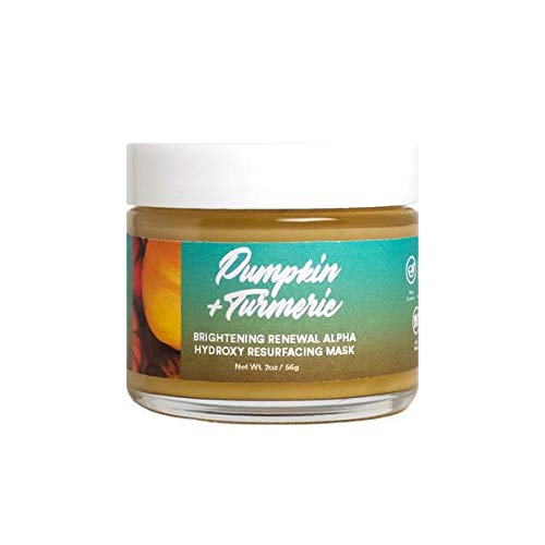 Camille Beckman Spa Botanicals Skincare Pumpkin & Turmeric, Brightening Renewal Alpha Hydroxy Resurfacing Mask, 2 oz