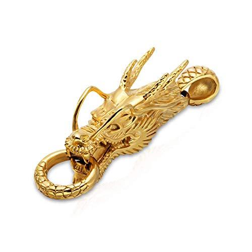 ZSML Starker 361L Titanstahl Drachen Anhänger, Edelstahl Drachen Halskette, Titan Stahl Anhänger für Männer und Frauen für Männer Frauen