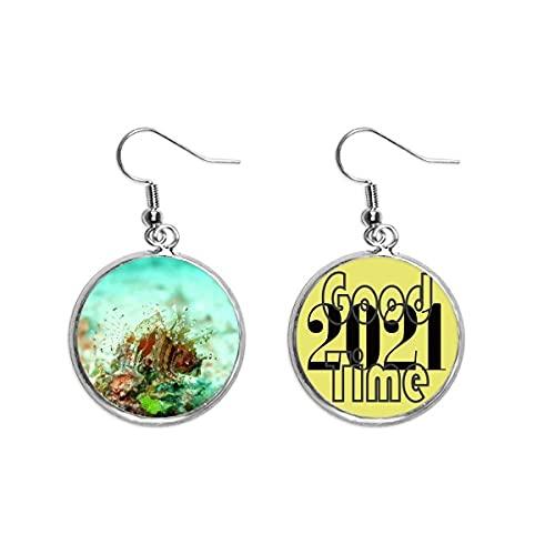Lionfish Ohrringe, Ozean, Meeresmeer, Organismus, Ohranhänger, Schmuck, 2021 Glücksbringer