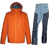 Men's Waterproof Shell Jacke,All-Weather All-Terrain,Rain Coat and Pants with Hood