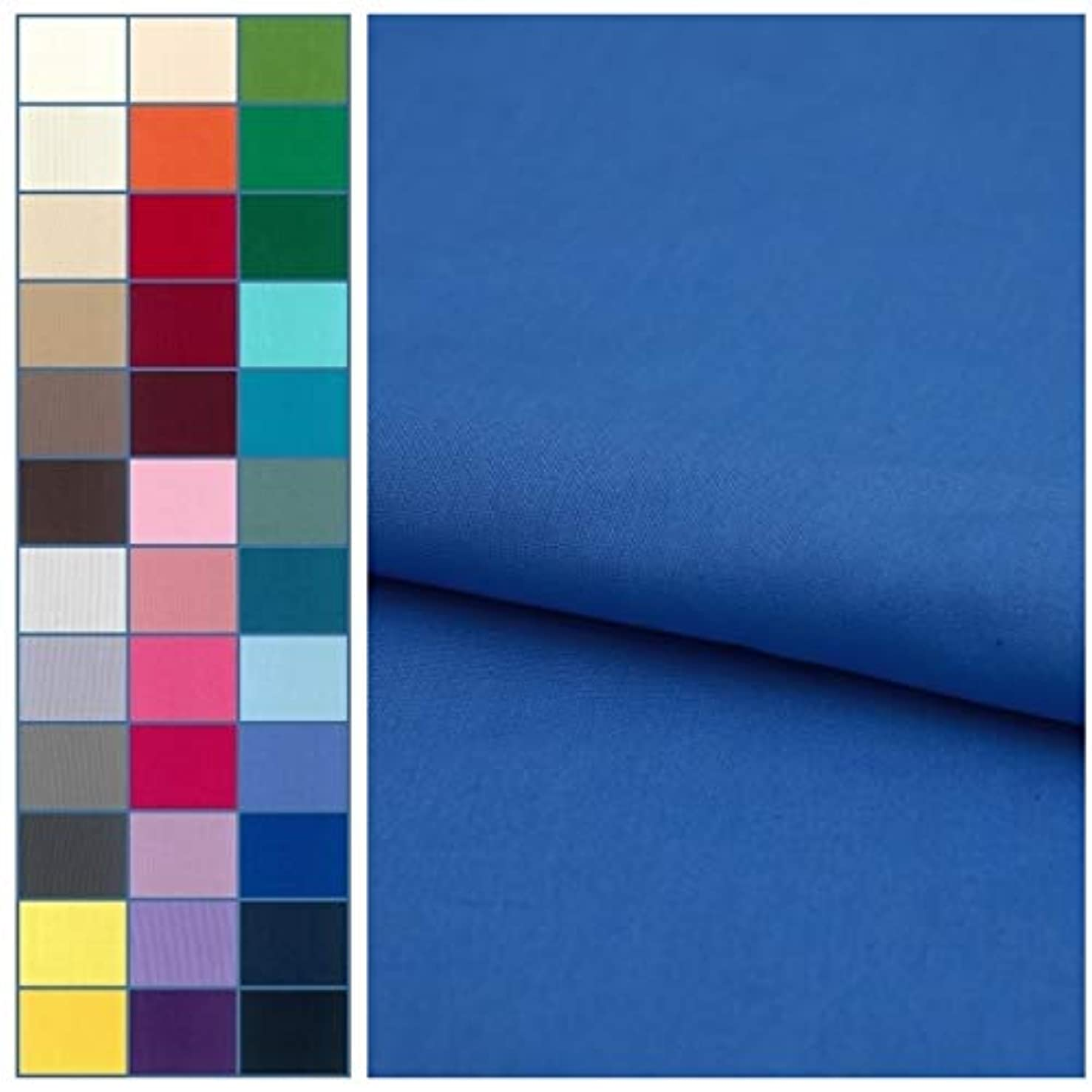 COTTONVILL Cotton Solid Quilting Fabric 3YD (Azure Blue)