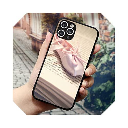 Ballerina Dance Ballet Girl Shoes Phone Case for iPhone 11 12 Mini Pro XS Max 8 7 6 6S Plus X 5S SE 2020 XR-a7-7plus Oro 8plus