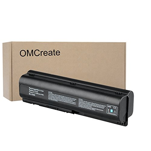 OMCreate 9 Cell Battery Compatible with HP CQ61 CQ40 CQ45 CQ50 CQ60 CQ70, G60 G50 G61 G71, G60-235DX G60-230US G60-120US G71-340US CQ60-615DX, Fits P/N EV06 498482-001 484171-001 497694-001 497694-001