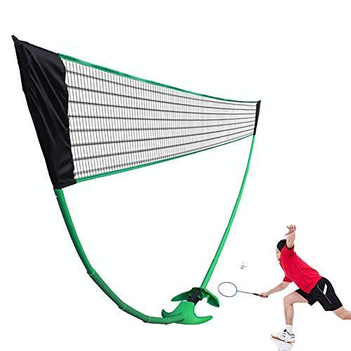 iLH Tragbare Standard-Badminton Net Set Für Tennis Easy Setup Sports Net Mit Polen Für Die Innen- Oder Außen Court Beach Interessante Fitnessgeräte Für Kinder Volleyball