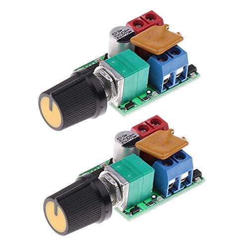 YUXIwang Controlador de velocidad 2 unids 3 V 6 12 V 24 35 V 5A DC Motor PWM controlador de velocidad para LED DIY