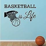 Pegatinas De Pared Calcomanías Artísticas Baloncesto Decorativo Es La Vida Decoración Del Hogar Baloncesto En La Canasta Niño Niño R59 * 88 Cm