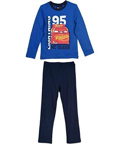 Cars Disney 3 Kollektion 2018 Ökotex Standard 100 Schlafanzug 92 98 104 110 116 122 128 Jungen Pyjama Neu Lang Lightning McQueen (122-128, Blau)