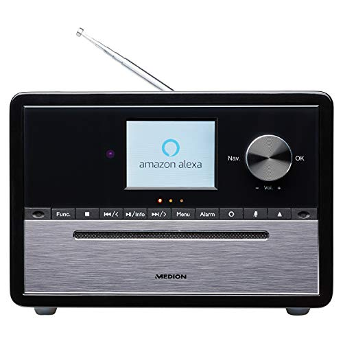 MEDION S64007 Kompaktanlage mit Amazon Alexa (DAB+, CD-Player, MP3, Spotify Connect, Amazon Music, Bluetooth, WLAN, PLL UKW Radio, 2,8 Zoll Farbdisplay)