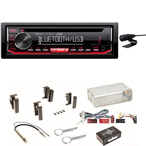 JVC KD-T702BT Autoradio CD FLAC WMA WAV MP3 USB 1-DIN Equalizer Einbauset für Audi A4 B5 A6 4B C4 A8