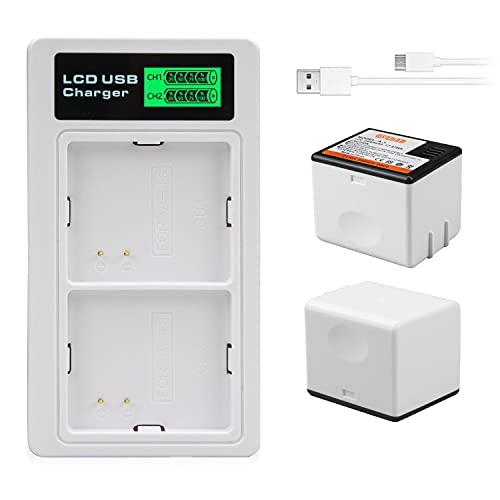 Oyomba 2 Pack Batteria Ricaricabile Compatibile con Arlo Pro, Arlo Pro 2 VMA4400, E Doppio Adattatore LCD per Batteria Arlo Pro, Arlo Pro 2 e Arlo Security Light