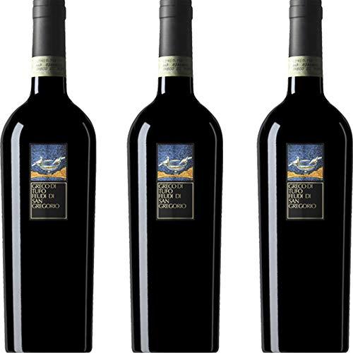 Greco di Tufo DOCG | Feudi di San Gregorio | Vino Bianco della Campania | 3 Bottiglie 75 cl | Idea Regalo