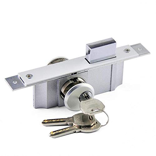 Rugged Large Iron Core Lock Plus Heavy Aluminum Alloy Door Lock Glass (with Frame) Central Door Lock Household Hardware