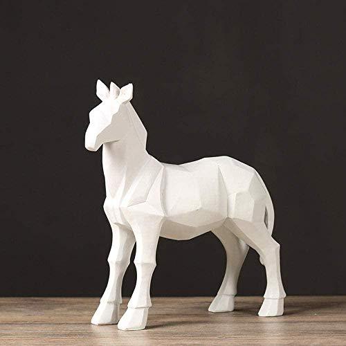 JLXQL Estatua decoración esculturas Resina Origami Caballo Creativo decoración del hogar Adornos para el hogar