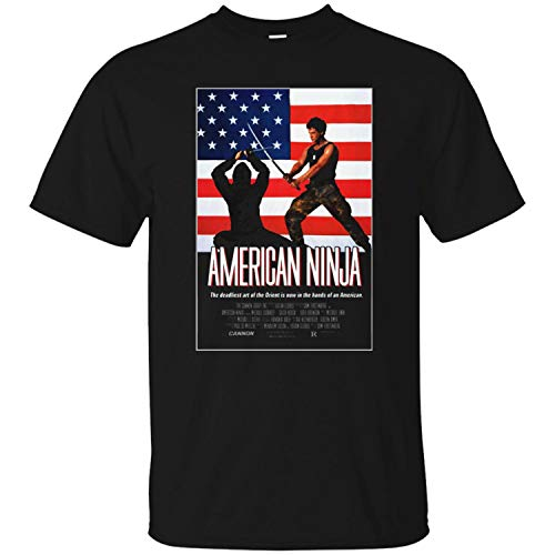 American Ninja, Martial Arts, Movie, Cannon, Samurai, Retro, 1980's Mens T Shirt,Black,M