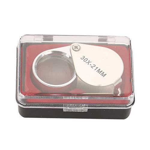 Sieraden Vergrootglas, 30X / 20X Draagbare Microscoop Vergrootglas Juweliers Lens Glas Vouwzak Loupe voor Sieraden Gems Checking Lezen Postzegels Munten Horloges Hobbies Antiek Modellen Foto's