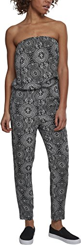 Urban Classics Damen Ladies Viscose Bandeau Jumpsuit, Mehrfarbig (Bandana 01060), Medium