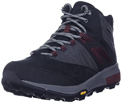 Merrell Men's Zion Mid Waterproof Hiking Boot, Black, 12
