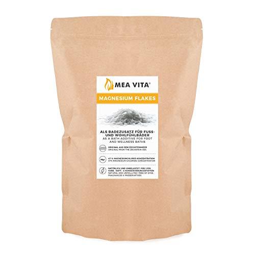 Meavita Copos De Magnesio Meavita, Cloruro De Magnesio Natural, 1000G En Bolsa 1200 g