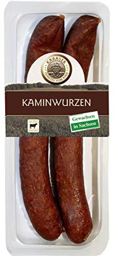 Kaminwurzen Rind 100% | Rindswurst geräuchert mit Pfeffer | Ausgereifte Mettwurst - Salami zum kalt & heiß essen 160 GR