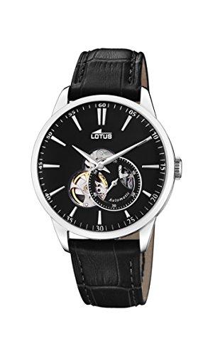 Lotus Herren Analog Automatisch Uhr mit Echtes Leder Armband 18536/4