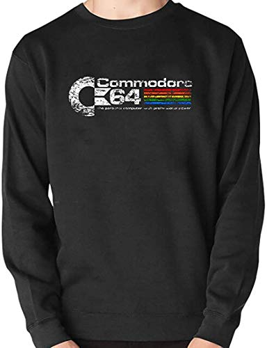 Commodore 64 Distressed Logo Unisex Sweatshirt, Adults and Kids Sizes up to 5XL