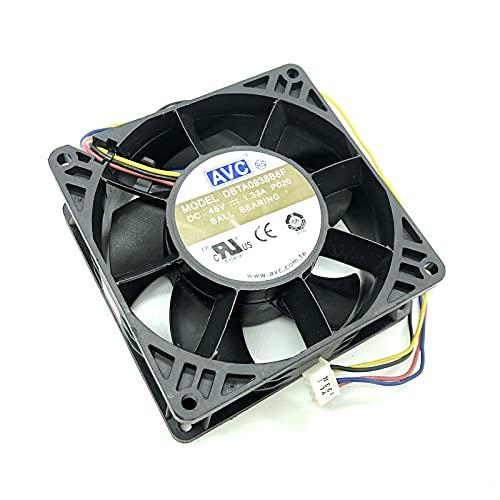 For AVC DBTA0938B8F 9CM 9238 48V PWM Inverter Server Cooling Fan 4-wire